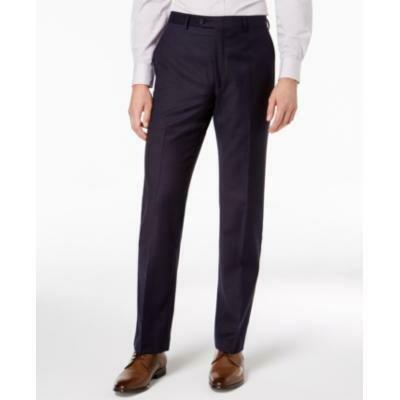 Lauren Ralph Lauren Men's Classic-Fit Windowpane Flannel Dress Pants - Blue