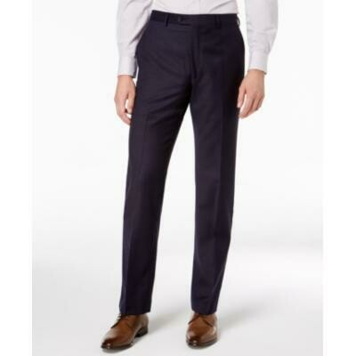 Lauren Ralph Lauren Men's Classic-Fit Windowpane Flannel Dress Pants - Blue