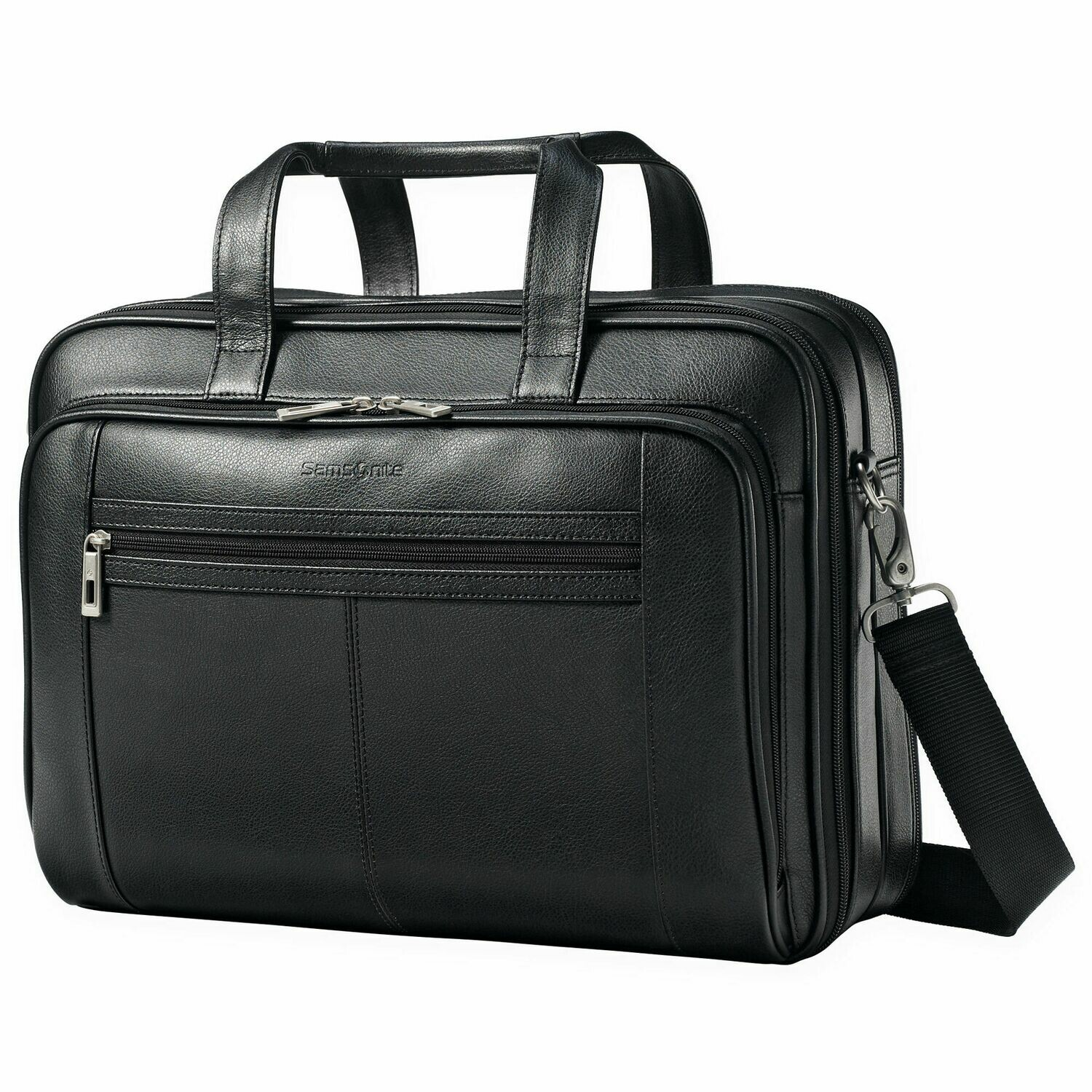 Samsonite 43122-1041 Leather Business Case - Fits up to 15.6 Screen