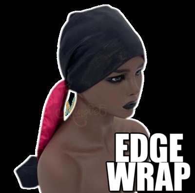 "Satin Edge Wrap Scarf - ""Safara"""