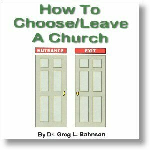 How to Choose/Leave a Church