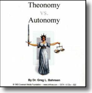 Theonomy vs. Autonomy