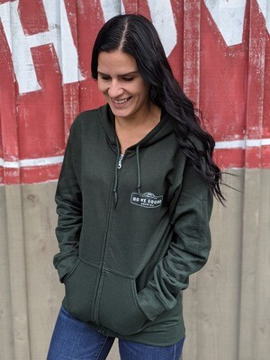 Zip-up Hoodie - Forest Green - Howe Sound Brewing