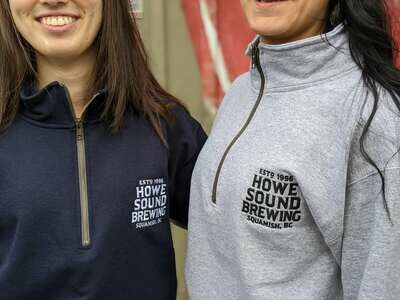 1/4 Zip-up Sweater - Howe Sound Brewing