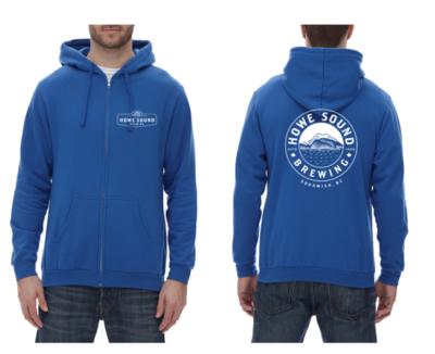 Zip-up Hoodie - Blue - Howe Sound Brewing
