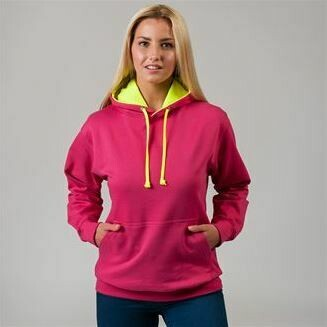 Unisex Bright Contrast Coloured Hoodies