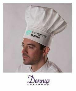 Denny's White Classic Chefs Hat
