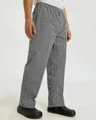 Black & White Check Chef Trousers