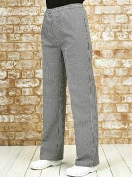Navy & White Check Chef Trousers