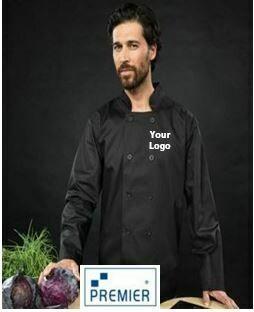 Premier Black Long Sleeve Classic Chef Jacket
