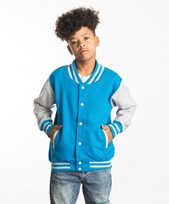 JUST HOODS Kids varsity jacket