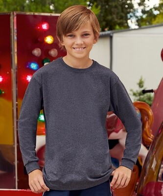 Fruit of the Loom Kids long sleeve value weight