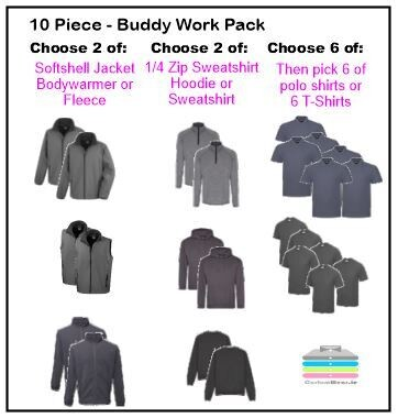 10 Piece Buddy Work Pack With Embroidered Logo