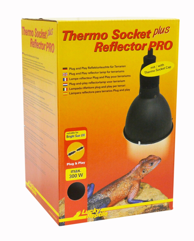 Lucky Reptile Thermo Socket plus Reflector PRO klein (schwarz) mit Steckverbindung