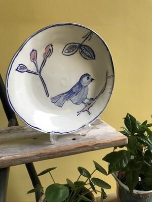 'Pink & Blue Bird' Plate