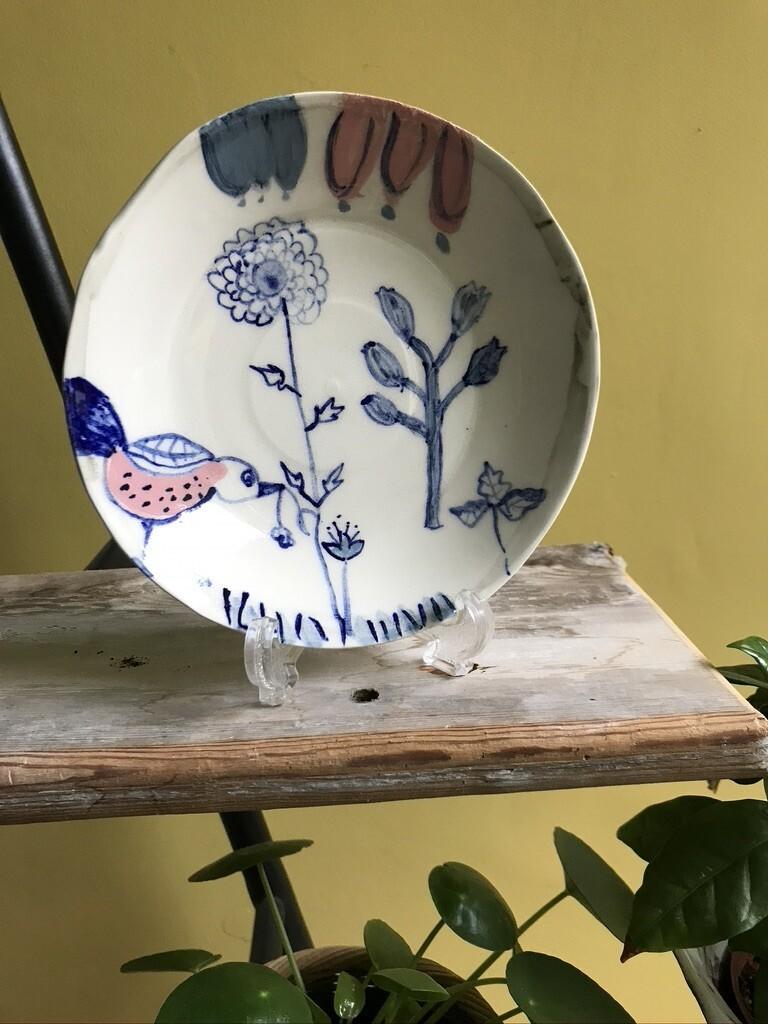 'Pink Bird' Plate