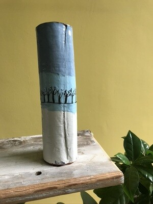 'Lockdown by the Water 2' Cylinder Vase