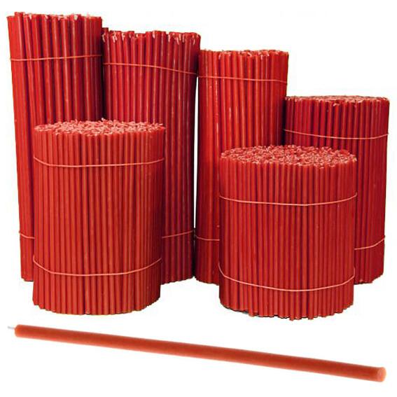 Свеча восковая Красная № 40, 265х7,1мм, время горения 2ч