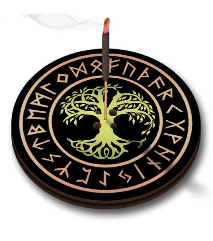 Подставка для благовоний Дерево жизни д.6см, дерево, металл