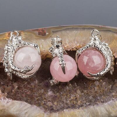 Кулон из Розового кварца