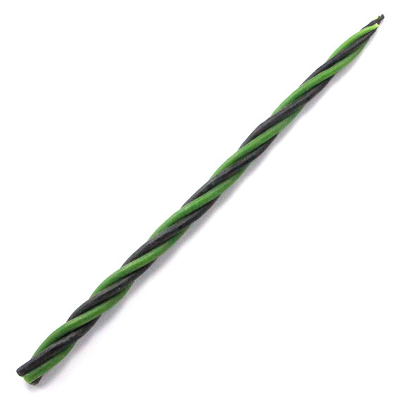 Скрутка из 4-х свечей Преодоление трудностей, 100% воск, 21см, 2 чёрн., 2 зелён.