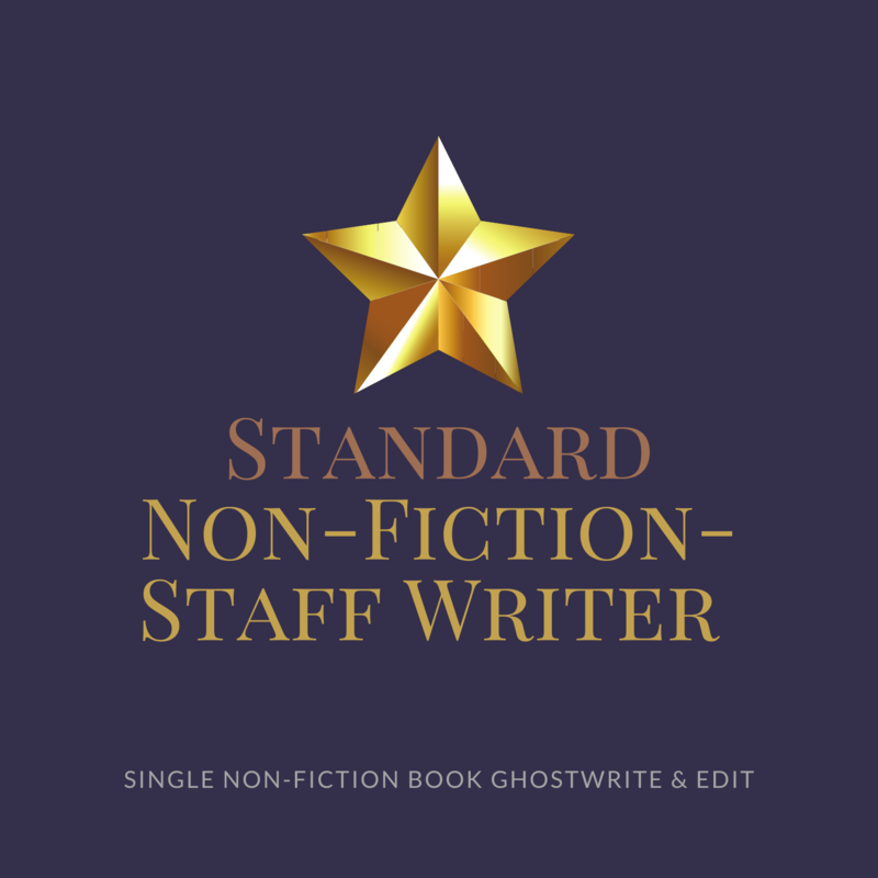 Standard Non-Fiction Ghostwriting- Staff Ghostwriter