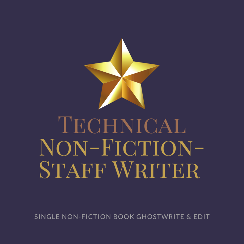 Technical Non-Fiction Ghostwriting- Staff Ghostwriter