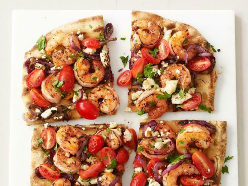 Grilled Shrimp Pizza