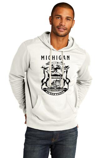 STATE of MICHIGAN FLAG Hoodie Sweatshirt