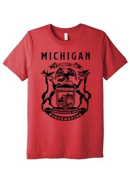 STATE of MICHIGAN FLAG Unisex Triblend T-shirt