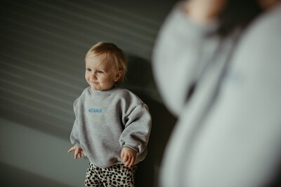 Soft chunky Sweatshirt in Grey Colour