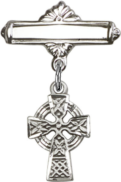 Celtic Cross Baby Badge Pin