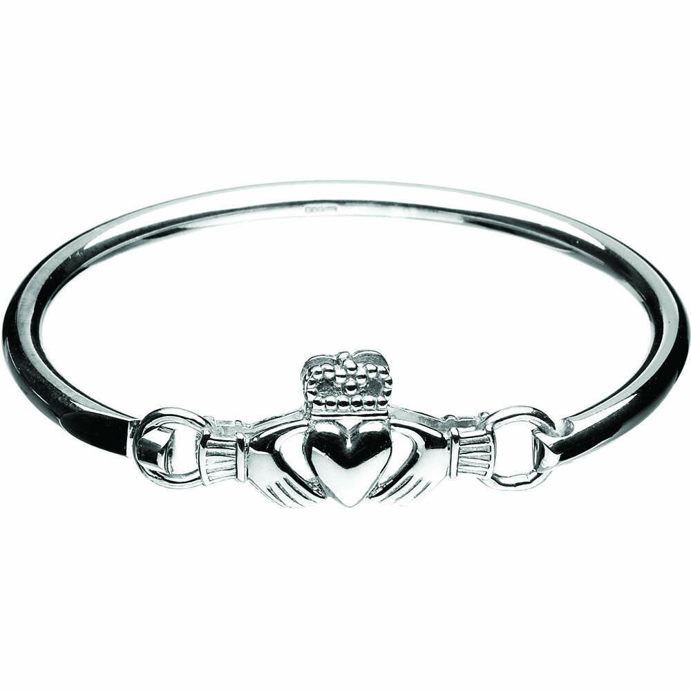 Sterling Silver Claddagh Wire Bangle