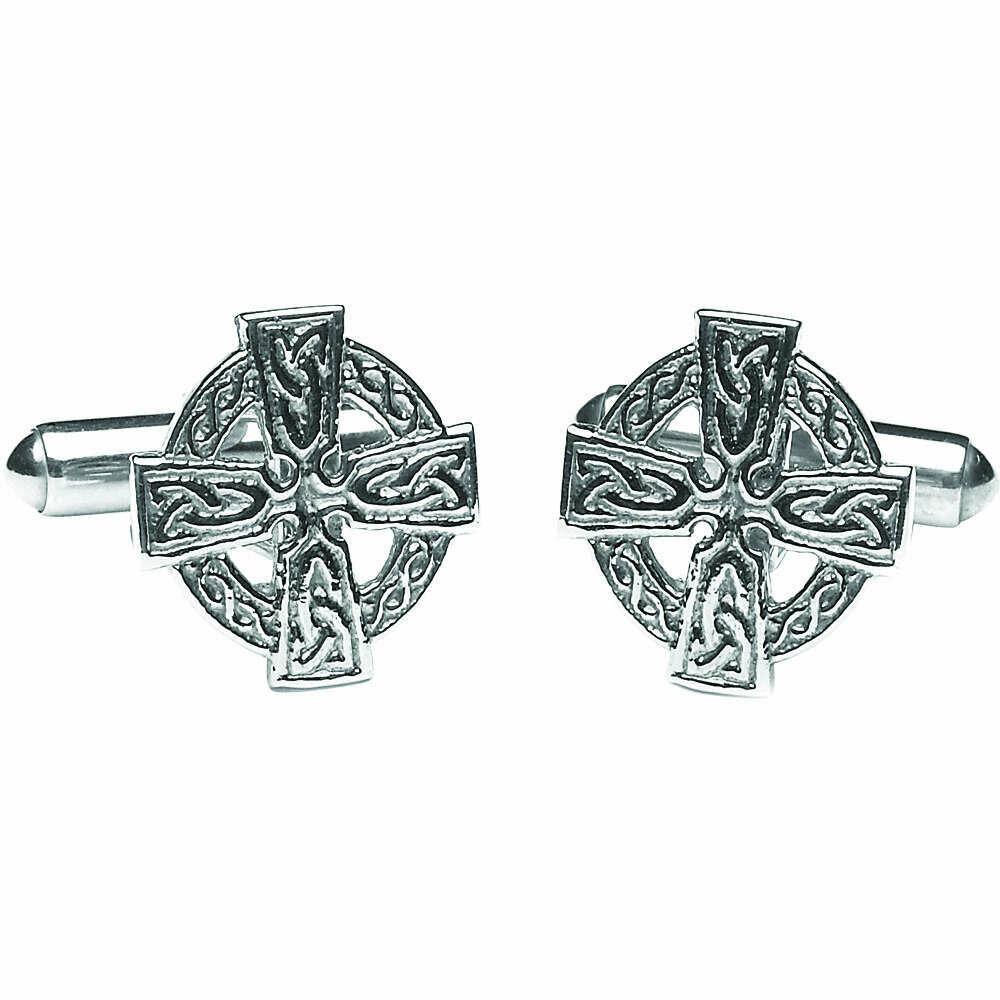 Sterling Silver Celtic Cross Cufflinks