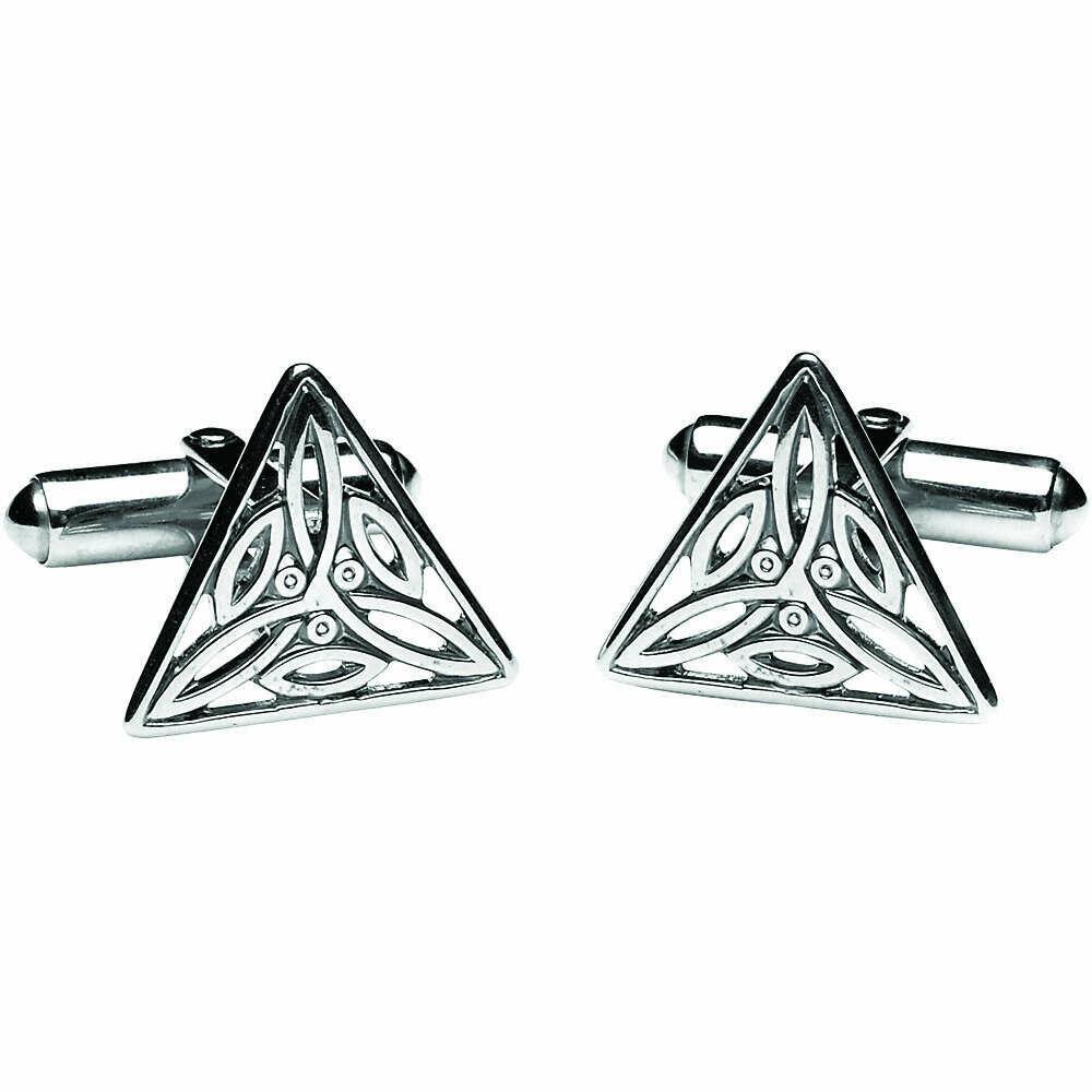 Sterling Silver Trinity Knot Cufflinks