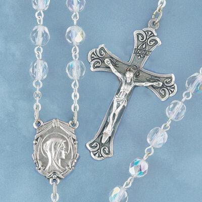 Aurora Borealis Crystal Rosary