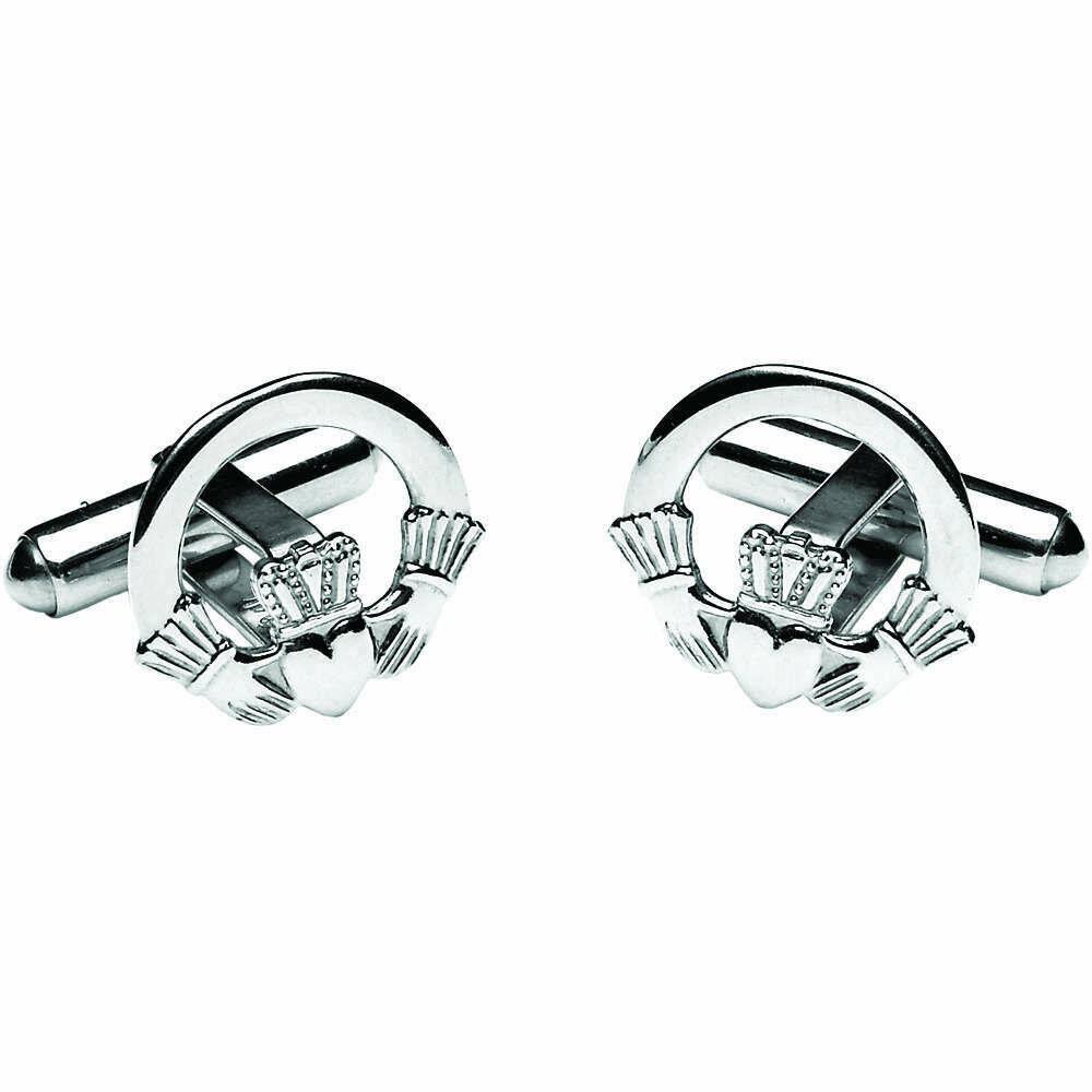 Sterling Silver Claddagh Cufflinks
