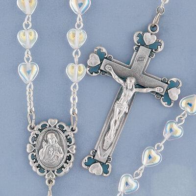 Crystal Heart Rosary