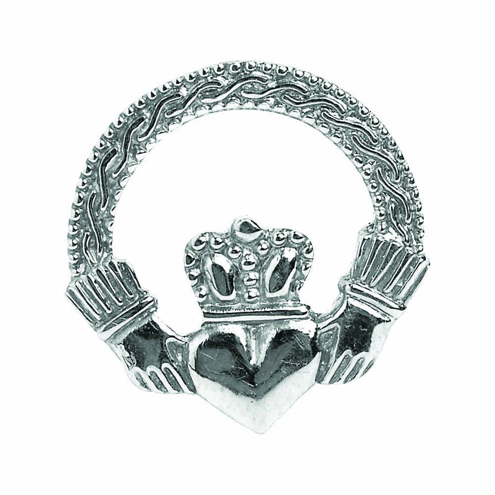 Sterling Silver Engraved Claddagh Tie Tac