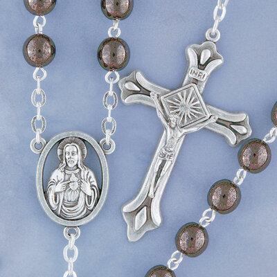 Hematite Round Rosary