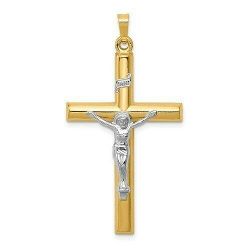 14kt. Gold Crucifix Two-Tone Pendant (Extra-Large)