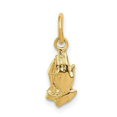 14kt. Gold Praying Hands Charm