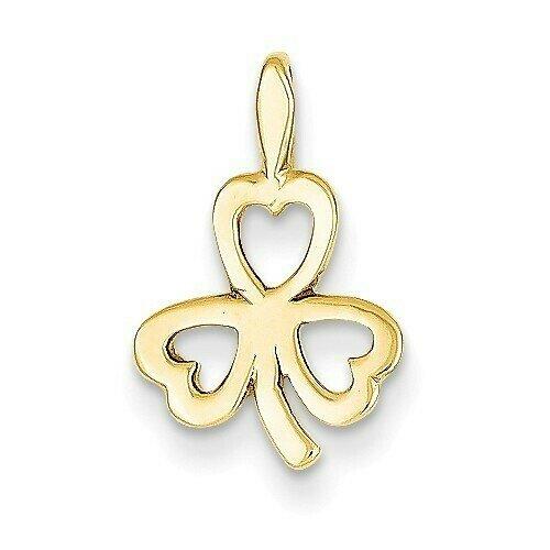 14kt Gold Heart Clover Charm