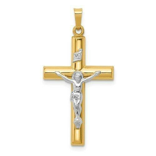 14kt. Gold Crucifix Two-Tone Pendant (Large)