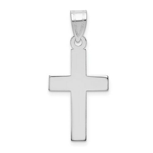 14kt. White Gold Polished Cross Pendant (Medium)