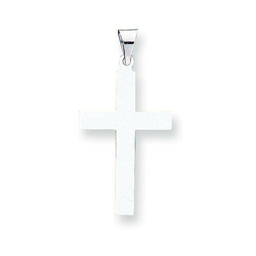 14kt. White Gold Polished Cross Pendant (Large)