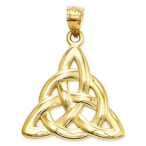 14kt Gold Polished Trinity Pendant