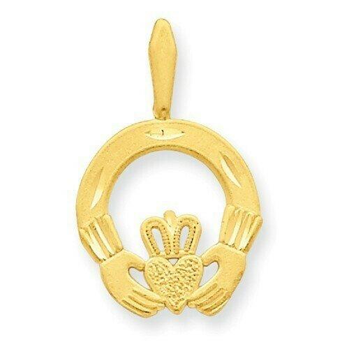 14kt Gold Claddagh Charm