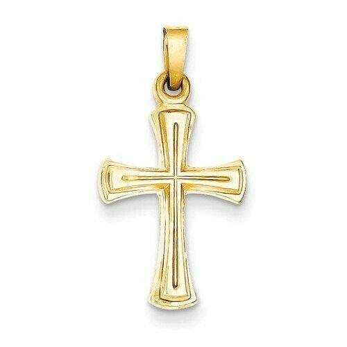 14kt. Gold Hollow Cross Pendant