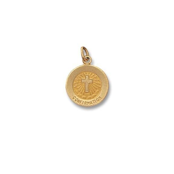 "1/2"" Diameter 14kt Solid Gold Confirmation Medal"